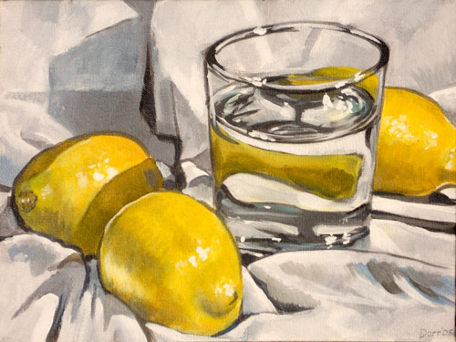 Water glass with lemons, 2005